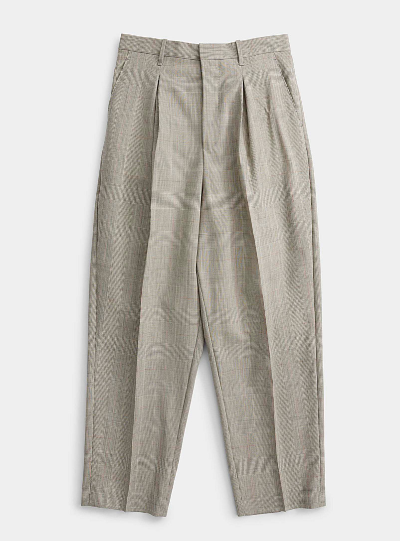 Ecole de Pensée Patterned Grey Parachute pant for women