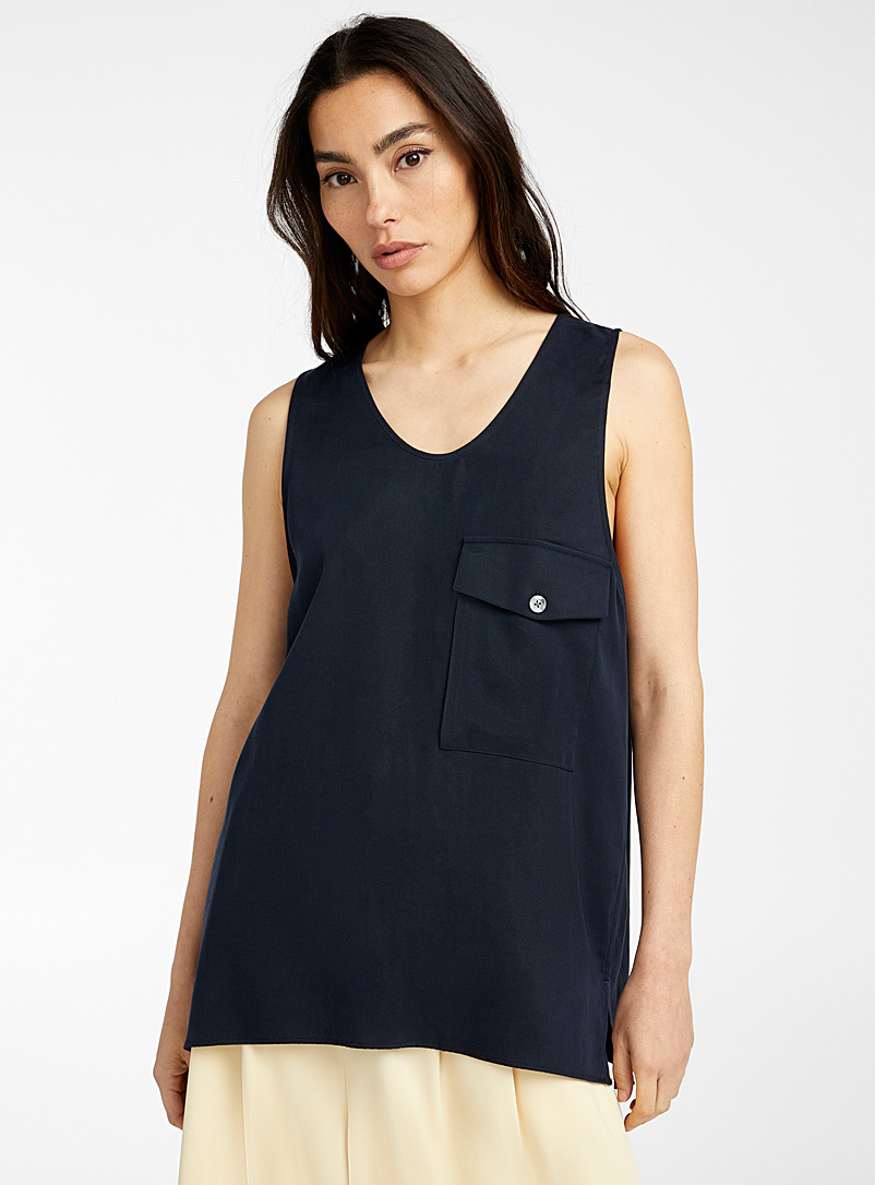 Ecole de Pensée Black Marcel tank for women