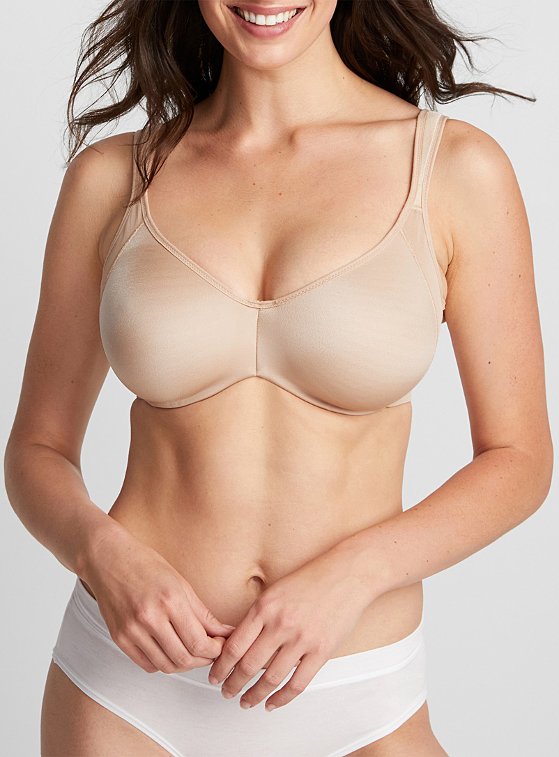 DIM Tan Generous Minimizer full coverage bra for women