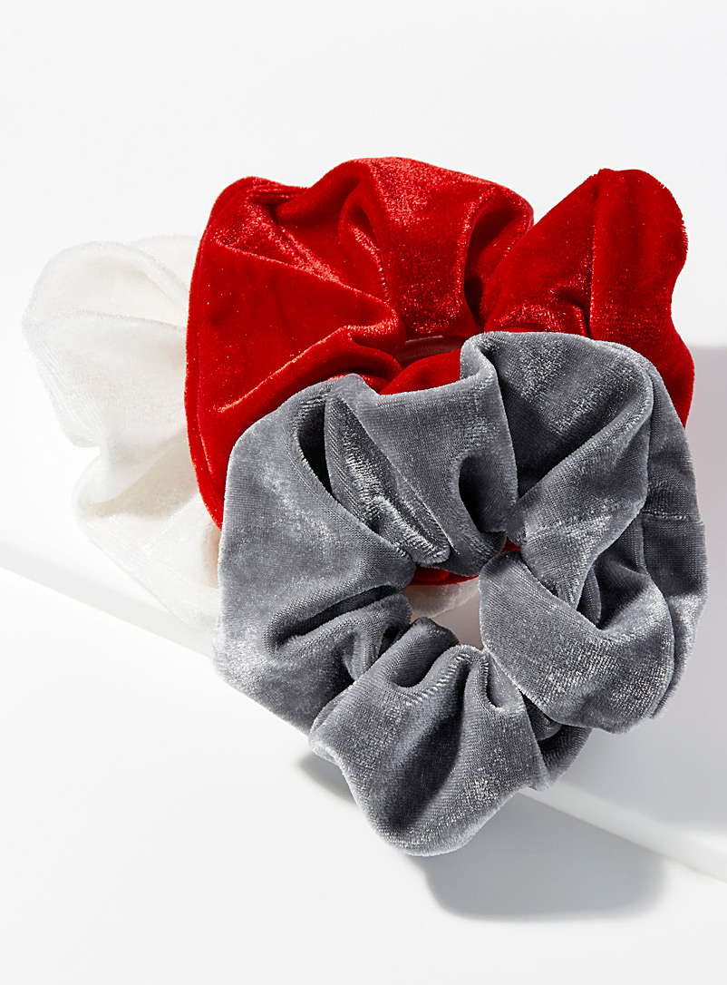 Large velvet scrunchies  Set of 3