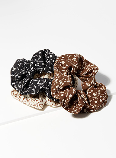 Fall blossoms scrunchies  Set of 3