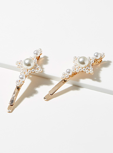 Decorative pearl clips <br>Set of 2
