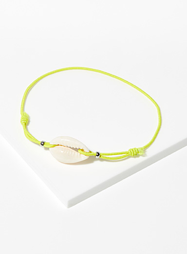 Simons Assorted Colourful seashell bracelet for women