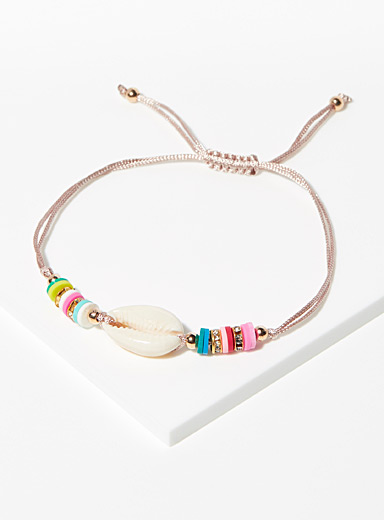 Simons Assorted Multicolour seashell bracelet for women