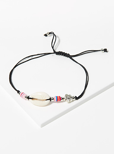 Simons Patterned Black Multicolour silvery bracelet for women