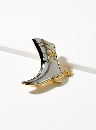 Simons Assorted  Cowboy boot brooch for women