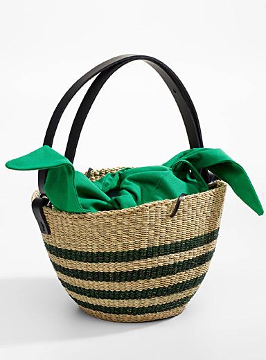 Polo straw bag