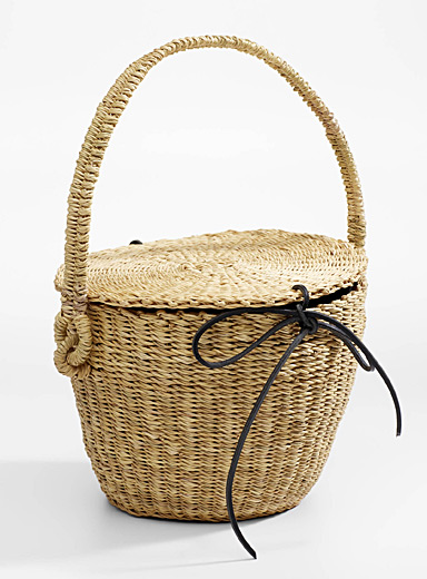 Lou straw bag