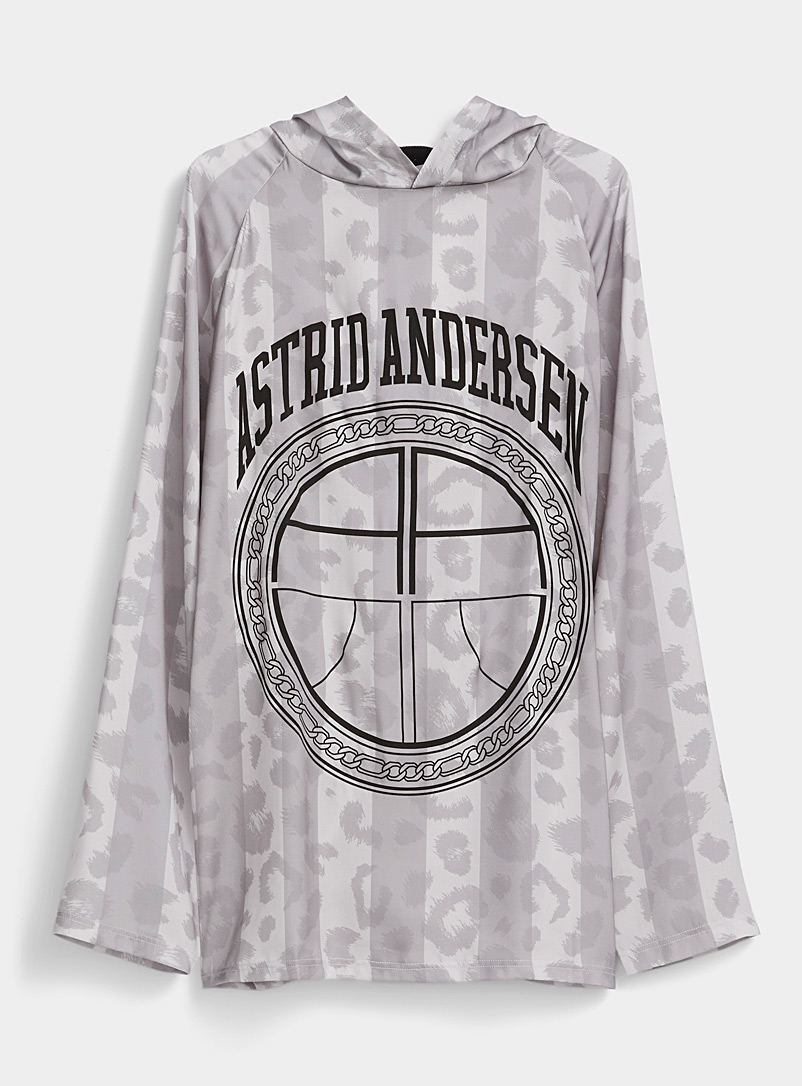Astrid Andersen Grey Leopard sweatshirt for men