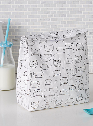 Purring kittens lunch bag