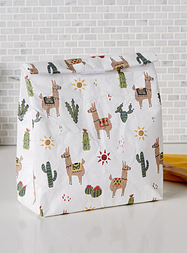 Desert llamas lunch bag