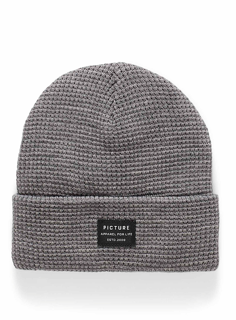 Picture Grey York waffle tuque for men