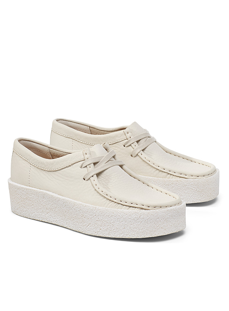 Wallabee moccasin platform shoes