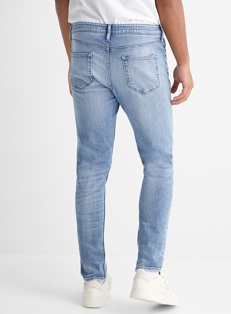 Le 31 Baby Blue Faded blue jean Tokyo fit - Skinny for men