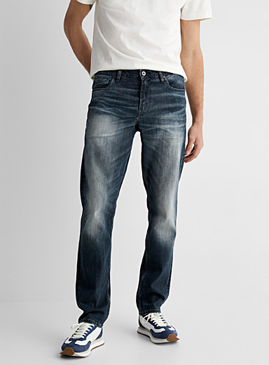 Faded blue organic cotton and modal jean Stockholm fit-Slim