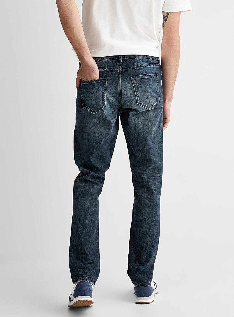 Le 31 Slate Blue Faded blue organic cotton and modal jean Stockholm fit - Slim for men
