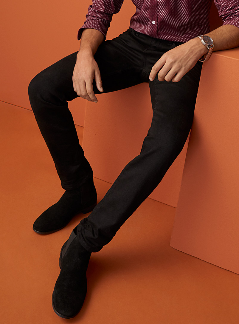 Le 31 Black Minimalist black jean  Stockholm fit - Slim for men