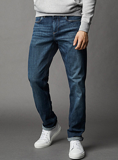 Indigo stretch jean <br>London fit - Slim straight
