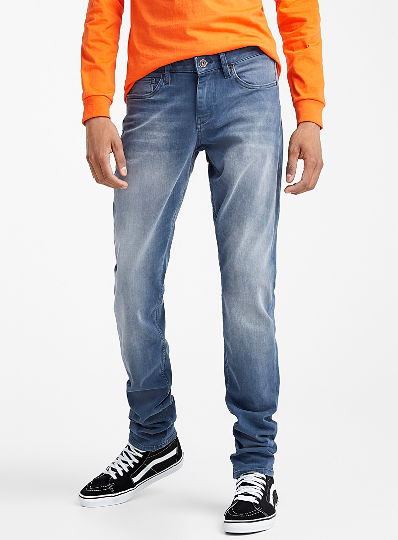 Djab Slate Blue Steel stretch jean  Södermalm fit-Slim for men