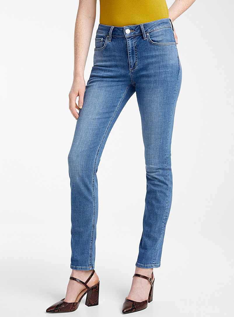 Contemporaine Slate Blue Slim boyfriend jean for women