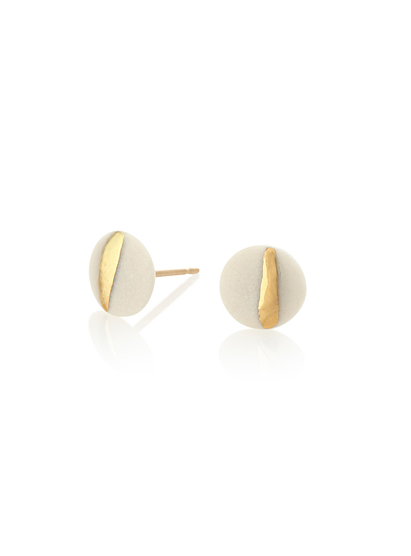 Golden glow earrings - Earrings - White