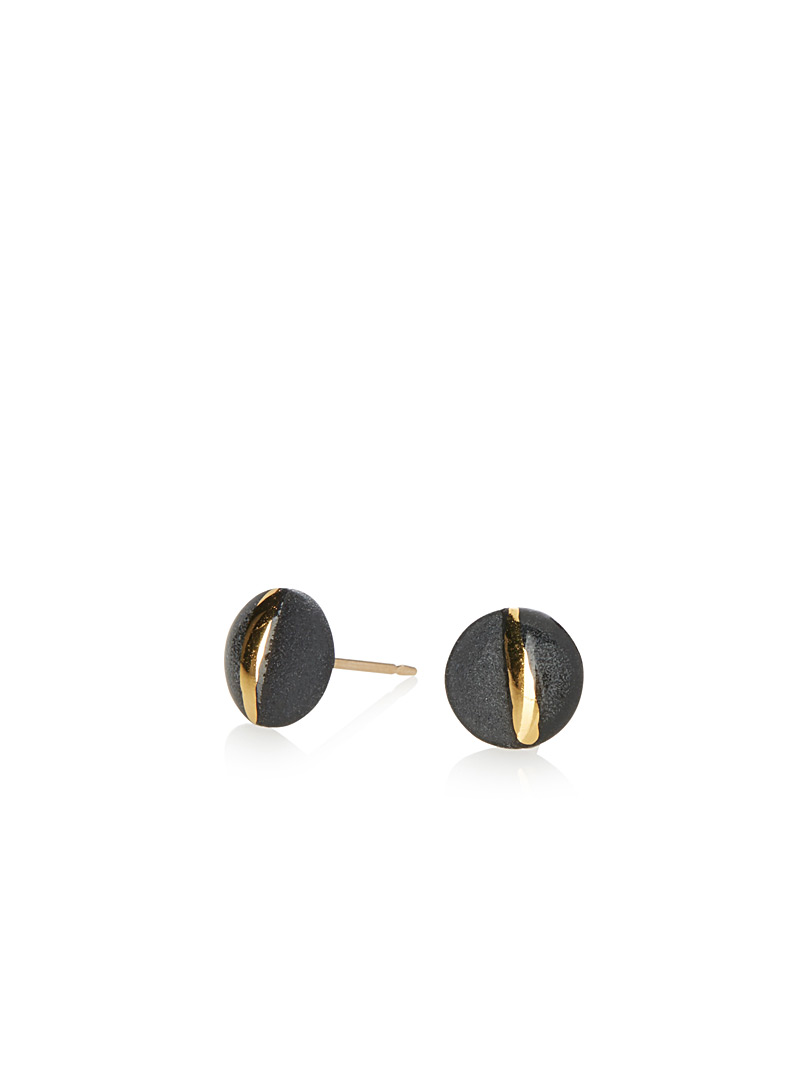 Golden glow earrings - Designer Jewellery - Dark Yellow