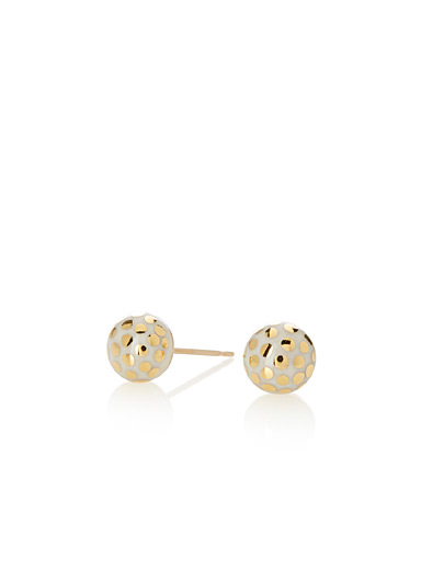 Gold sparkles earrings