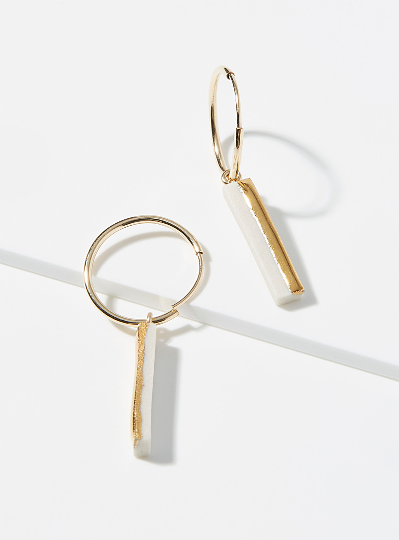 Gold ingot hoops