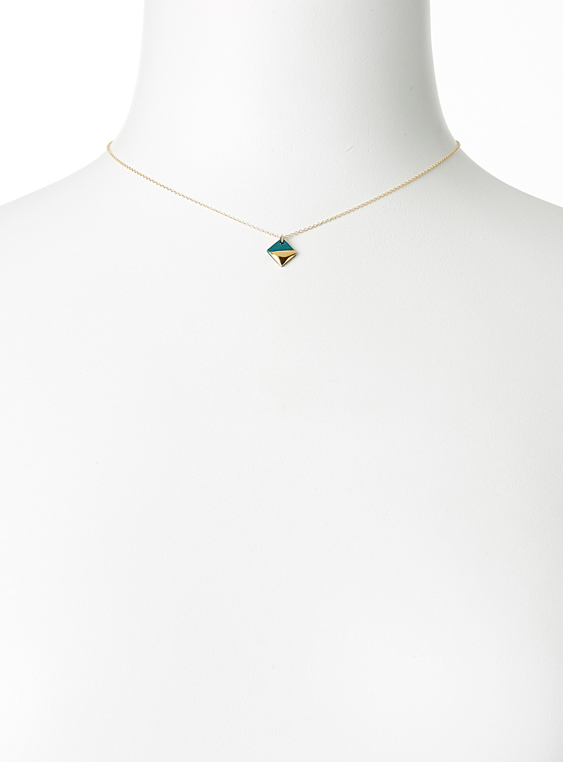 Golden square necklace - Necklaces - Assorted