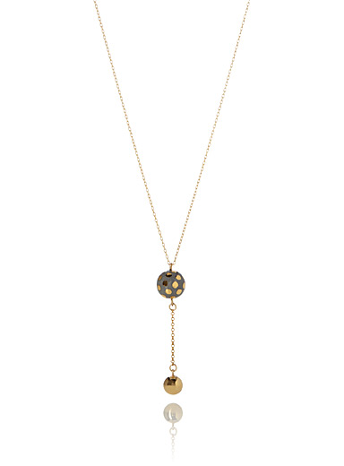 Golden sphere pendant necklace