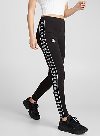 Logo band legging