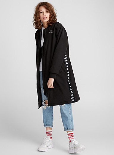 Le long bomber boutons-pression