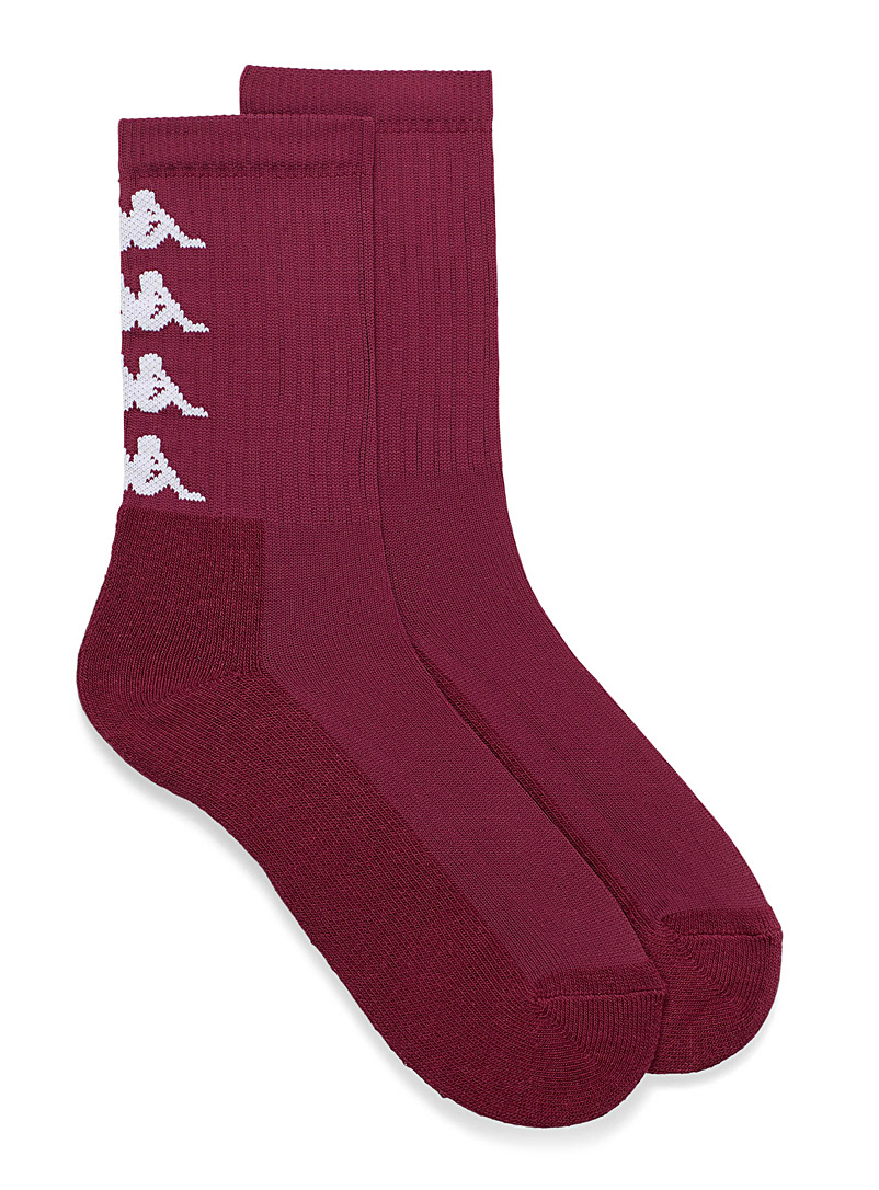 Kappa White Vertical band logo socks for men