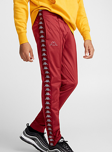 Logo band burgundy pant