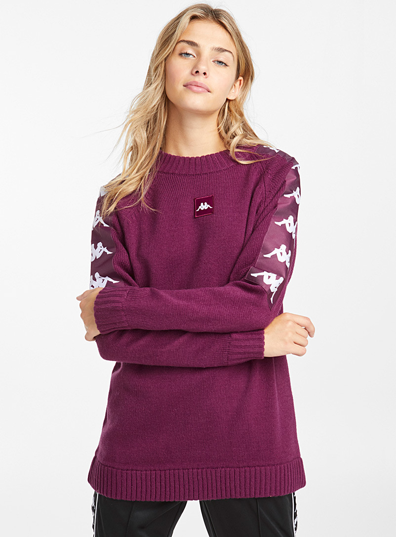 le-pull-violet-manches-logos