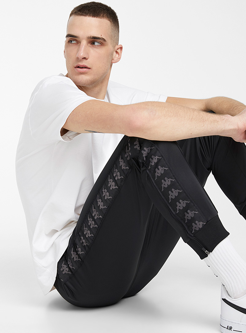 Kappa Black Monochrome logo band track pant for men