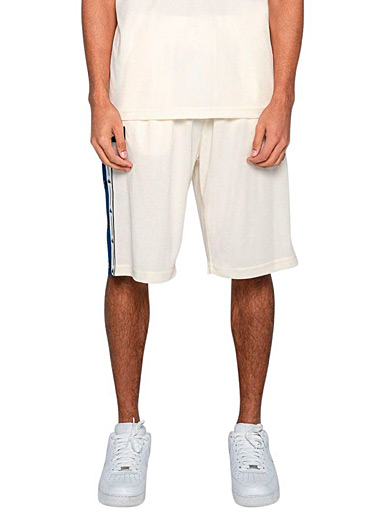 Kappa White Banda waffle basketball short for men