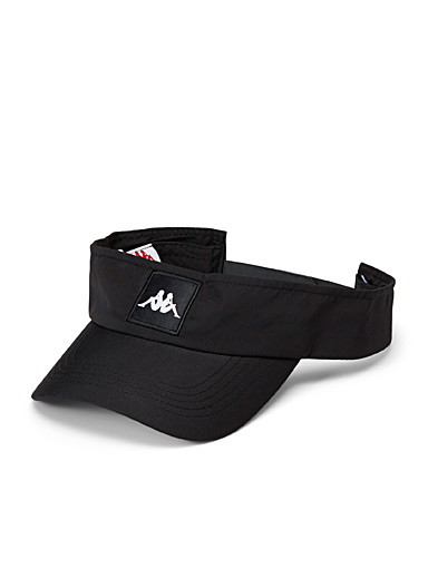 Kappa Patterned Black Bzahat visor for men