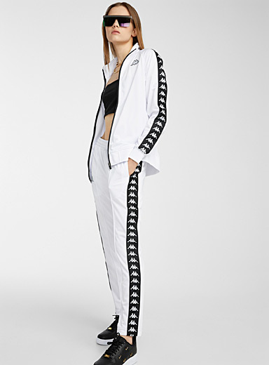 Black and white Astoria track pant