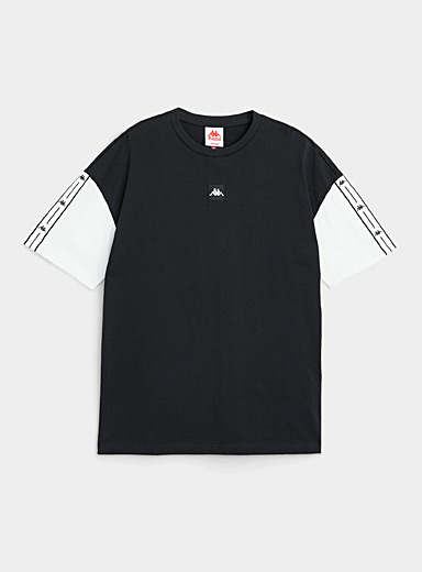 Logo-band sleeve T-shirt