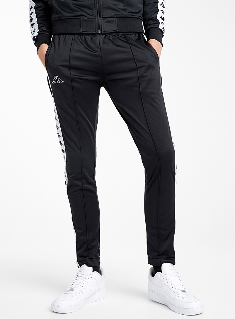 Logo-stripe snap-button track pant - Joggers - Black and White