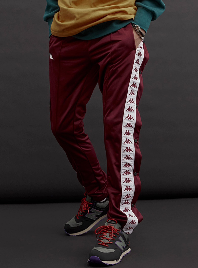 Kappa side-stripe jogger - Joggers - Ruby Red