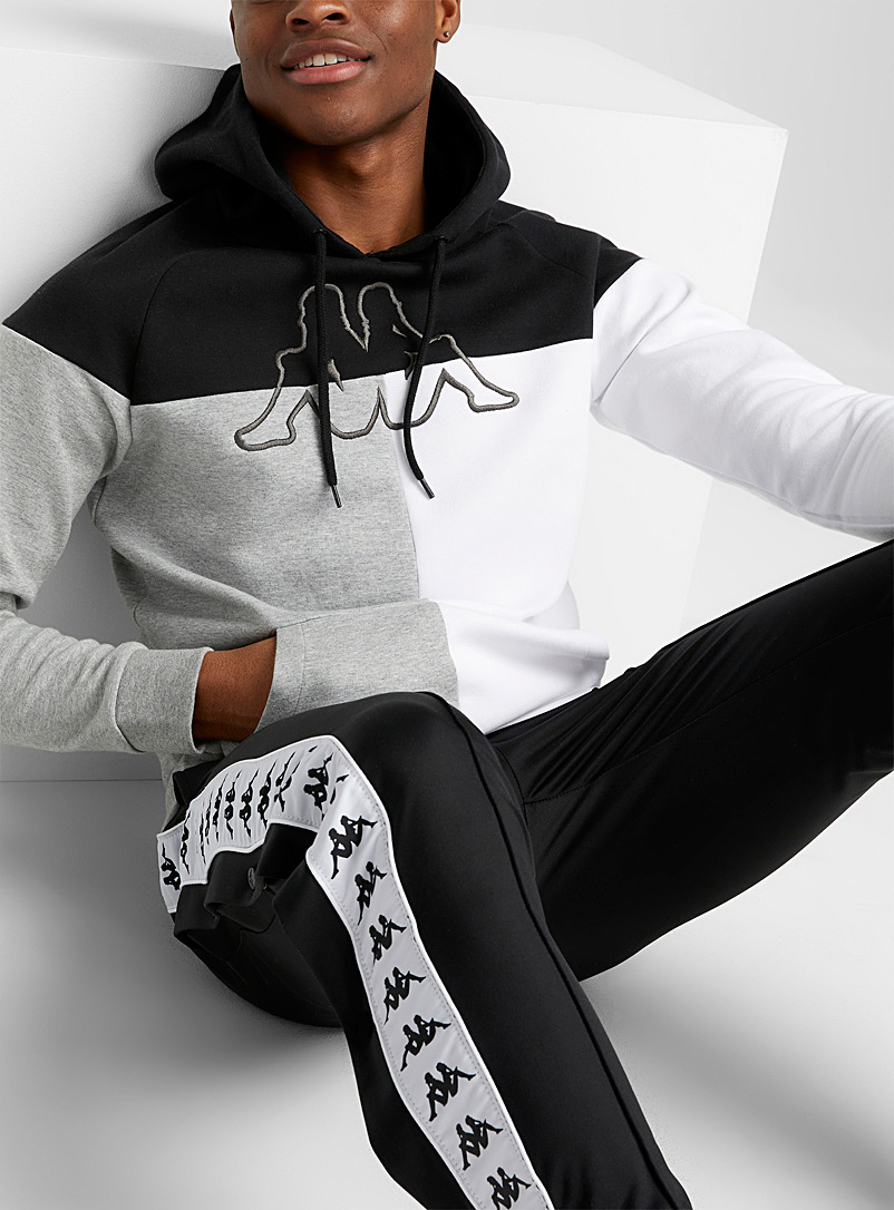 Kappa Black Contrast block jersey hoodie for men