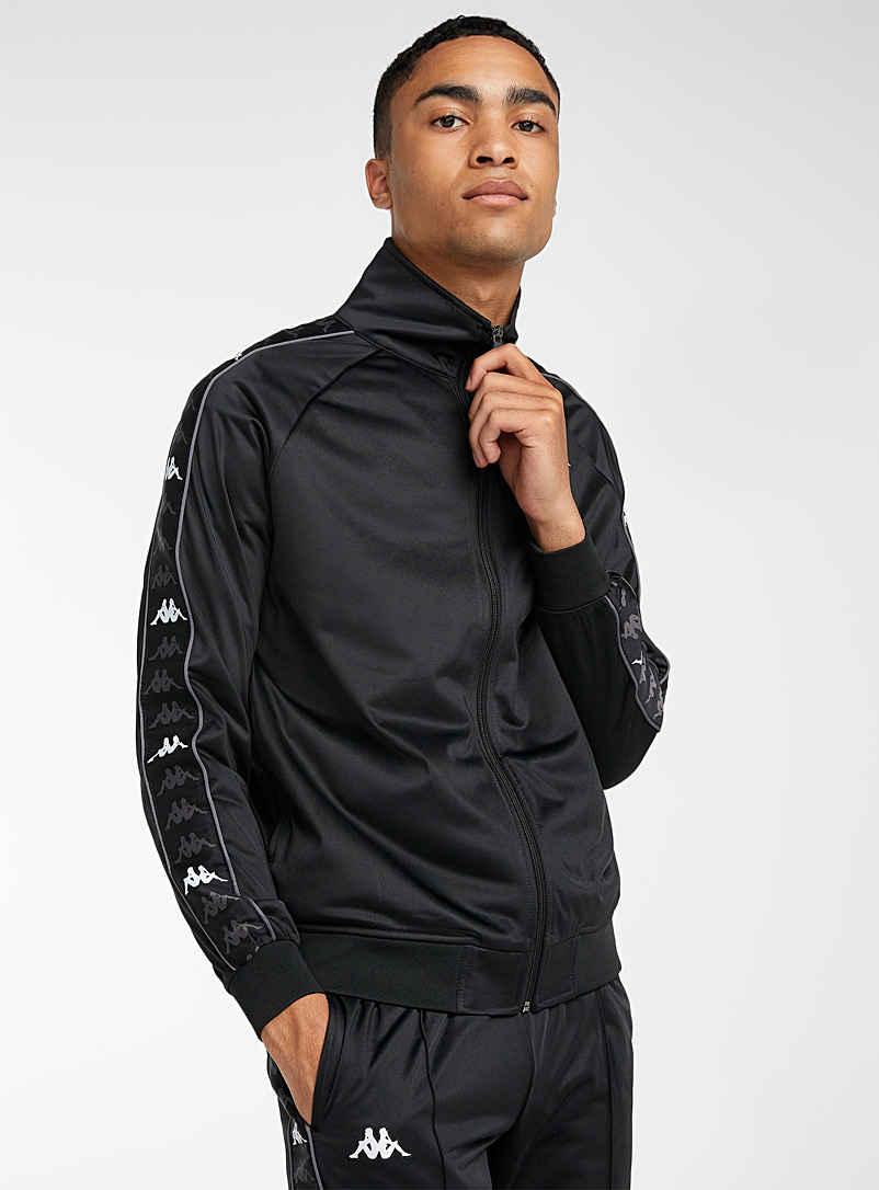 Kappa Black Banda Dullo track jacket for men