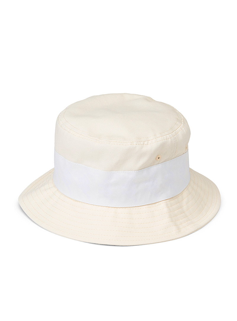 Kappa Ivory White Banda Bzalab bucket hat for men