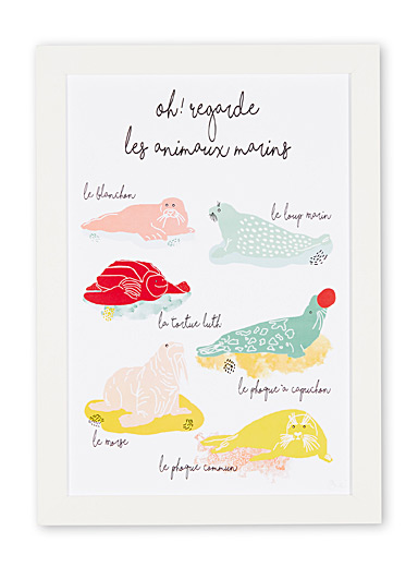 Le tableau animaux marins