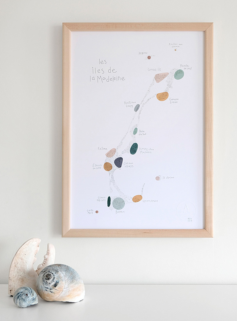 Map of the Islands art print