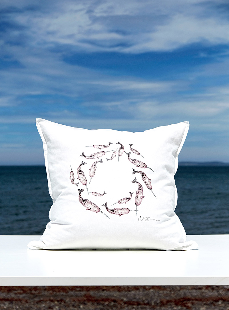 à marée basse Sand Island life cotton and down cushion  20