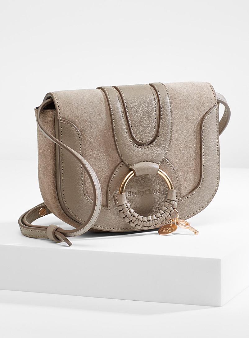 Hana suede shoulder bag - See by Chloé - Grey