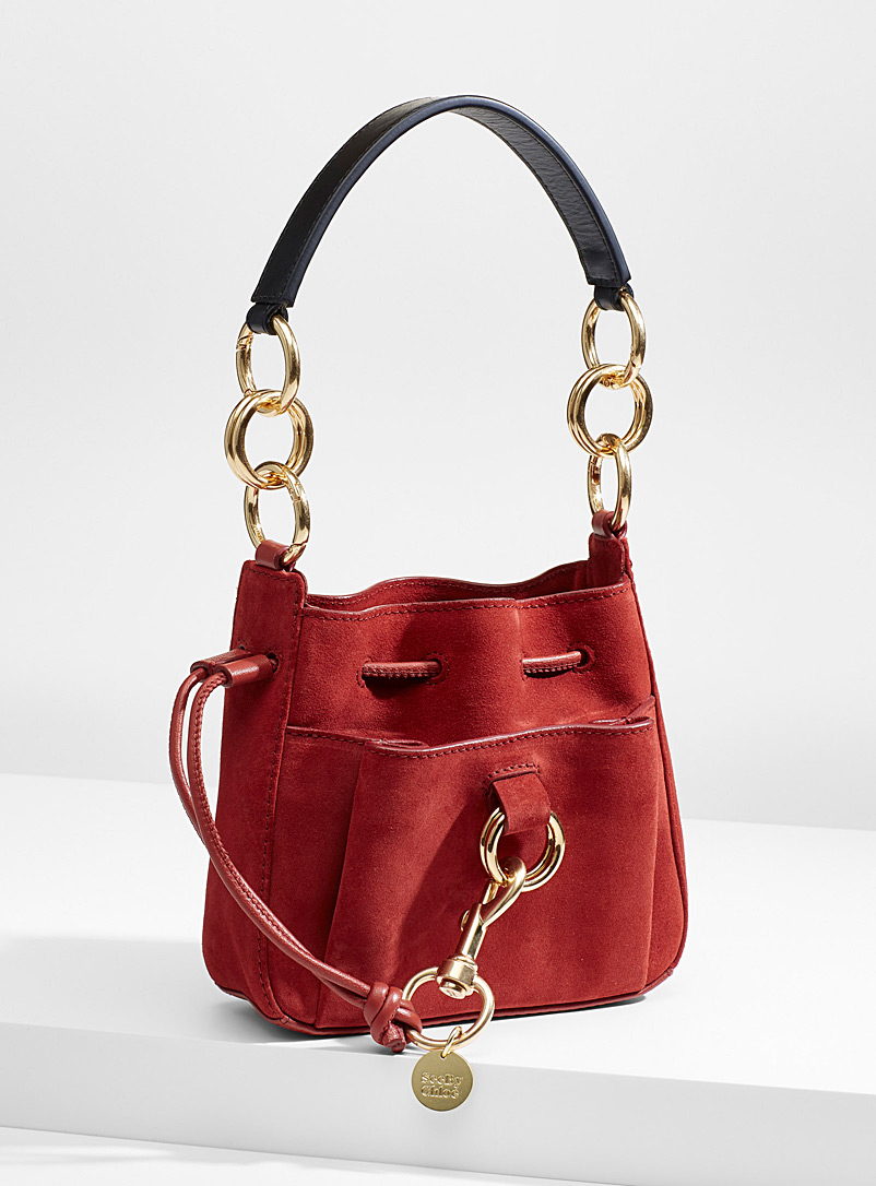 See by Chloé Light Red Tony bucket bag for women